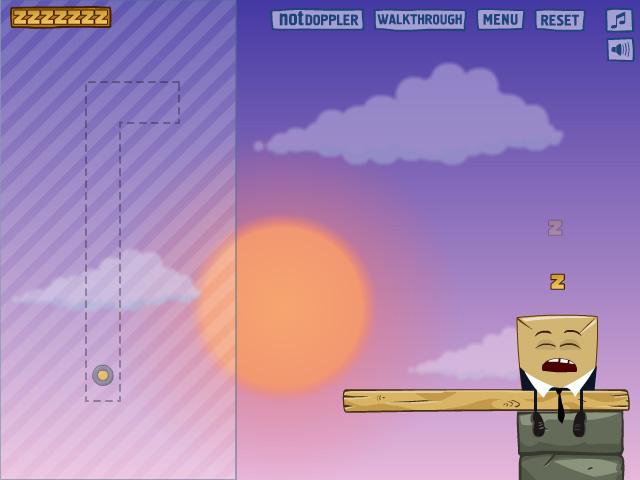 حصريا _-_ لعبة اسقاط الرجل النائم اللعبة الذكية والممتعة جداً بـ 30 مرحلة وبحجم 2 ميج
